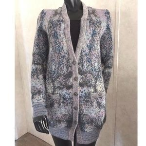 CHANEL mohair blend marled cardigan sweater